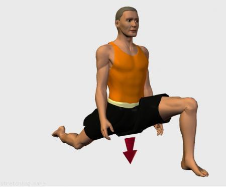 Estiramiento (stretching, streching) recomendado para:  futbol,  baloncesto,  atletismo,  senderismo,  voleibol,  pesas,  natacion,  tenis,  esqui,  triatlon,  danza,  artes Marciales,  gimnasia,  correr,  beisbol,  rugby,  softbol,  balonmano,  futbol americano,  kitesurf,  esgrima,  piernas,  psoas,  cuadriceps.