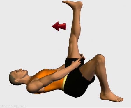 Estiramiento Isquiotibiales (stretching, streching) recomendado para:  atletismo,  senderismo,  correr,  piernas,  lumbares, lumbalgia.