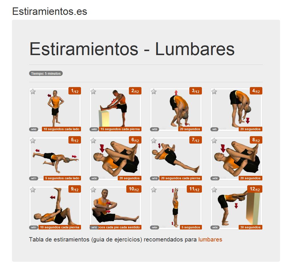 Estiramientos.es - Posters de estiramientos - Lumbares
